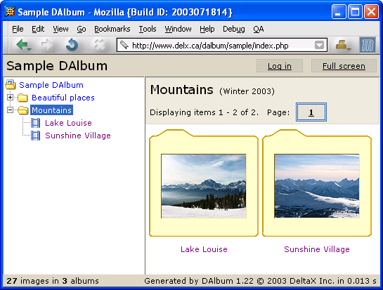 DAlbum screenshot